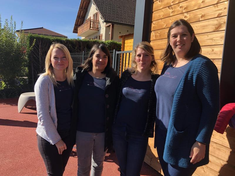 Audrey, Emilie, Adeline et Elodie, à Vouvray