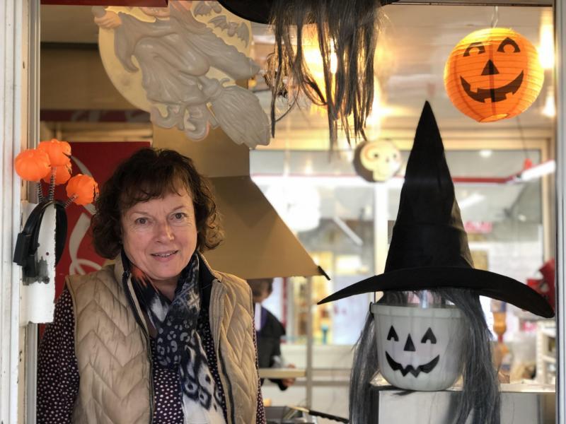 Christine avait décoré son snack aux couleurs d'Halloween, jeudi 31 octobre, à Annemasse.