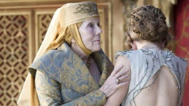 Dans Game of Thrones, Diana Rigg incarnait la redoutable Olenna Tyrell.