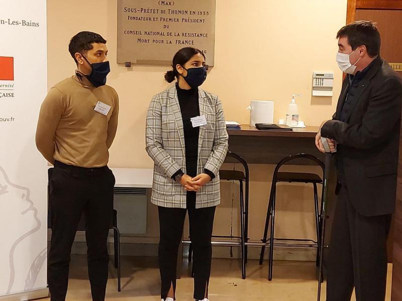 Nelson Duarte et Chaïma Harouach ont été aidés par la Mission locale du Chablais candidater au poste de médiateur numérique.