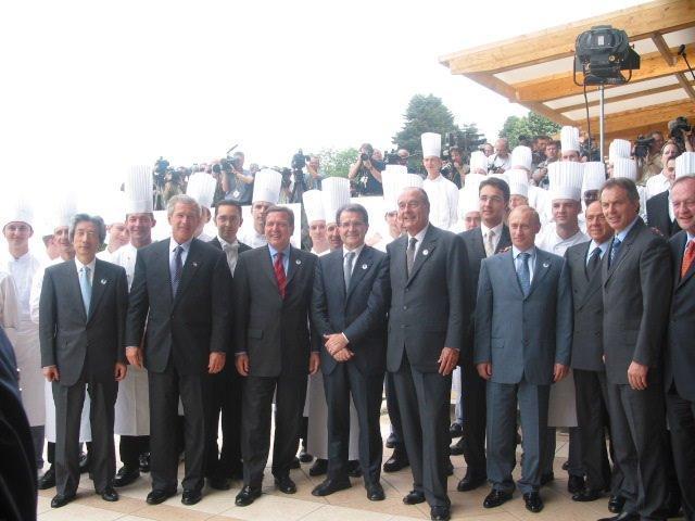 Jacques Chirac était venu à Evian lors du sommet du G8 en 2003 - photo d'archive