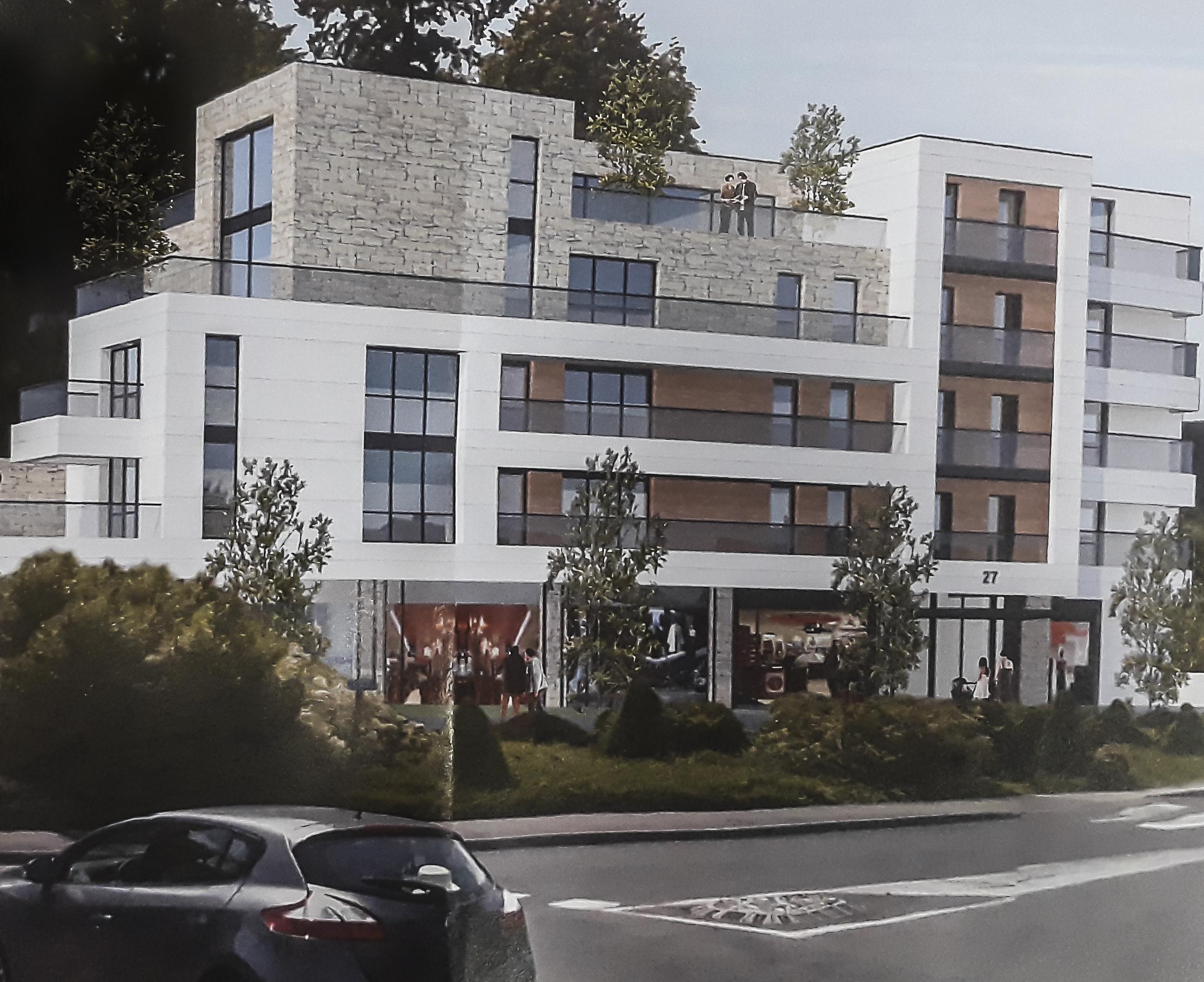 Un immeuble accueillant 16 logements ainsi que des commerces et des bureaux verra le jour prochainement.