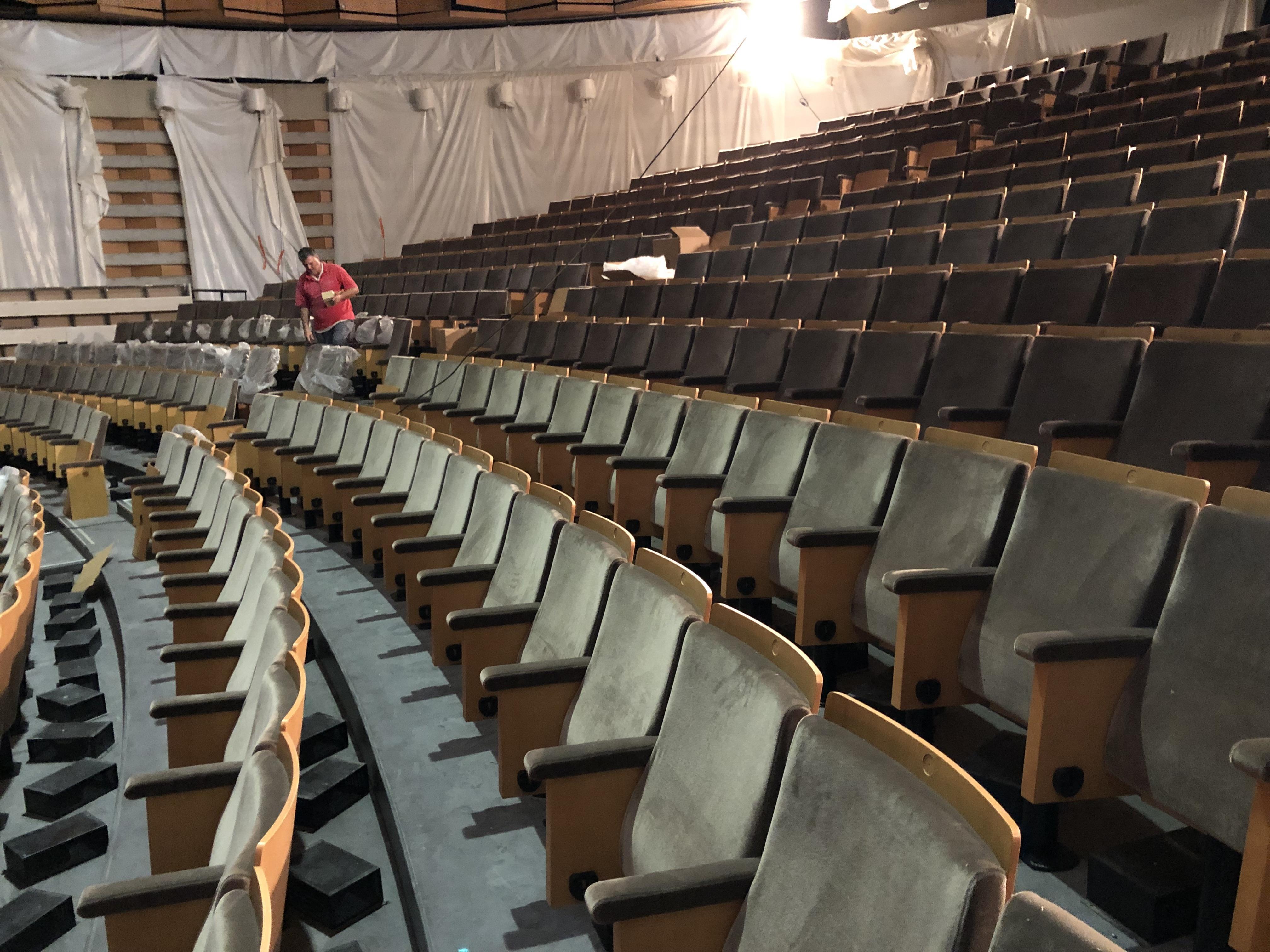 (PHOTOS) Chambéry: le temps presse pour terminer les travaux de rénovation du théâtre Malraux