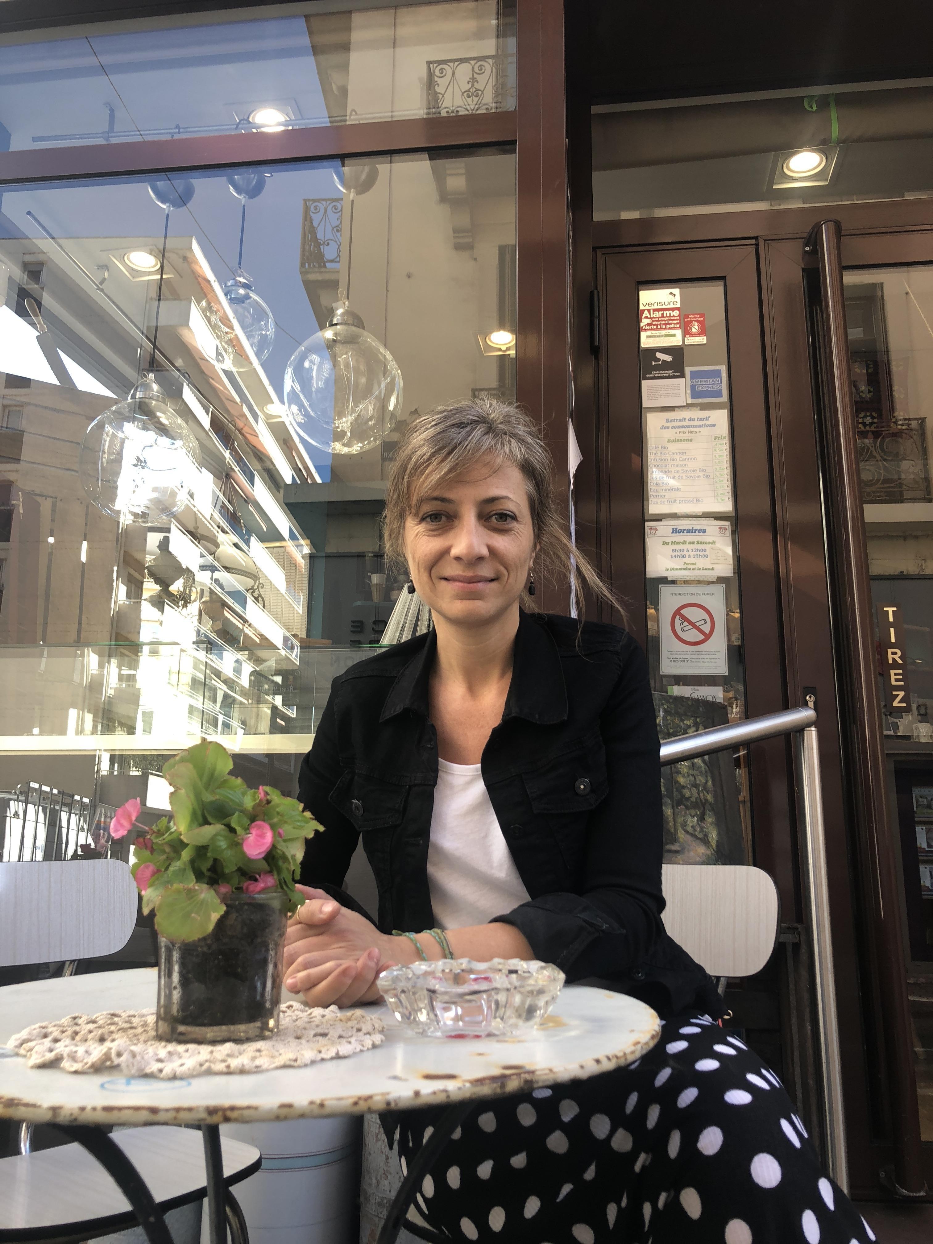 Sandrine Marchesini a repris le salon de thé de ses parents il ya trois ans.