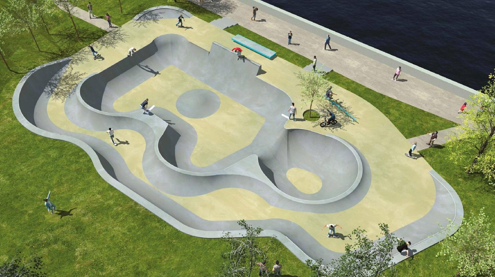 Le montant de l'aménagement du skatepark, dont le terrassement est en cours (ci-dessous)  est estimé à 260 000 euros.