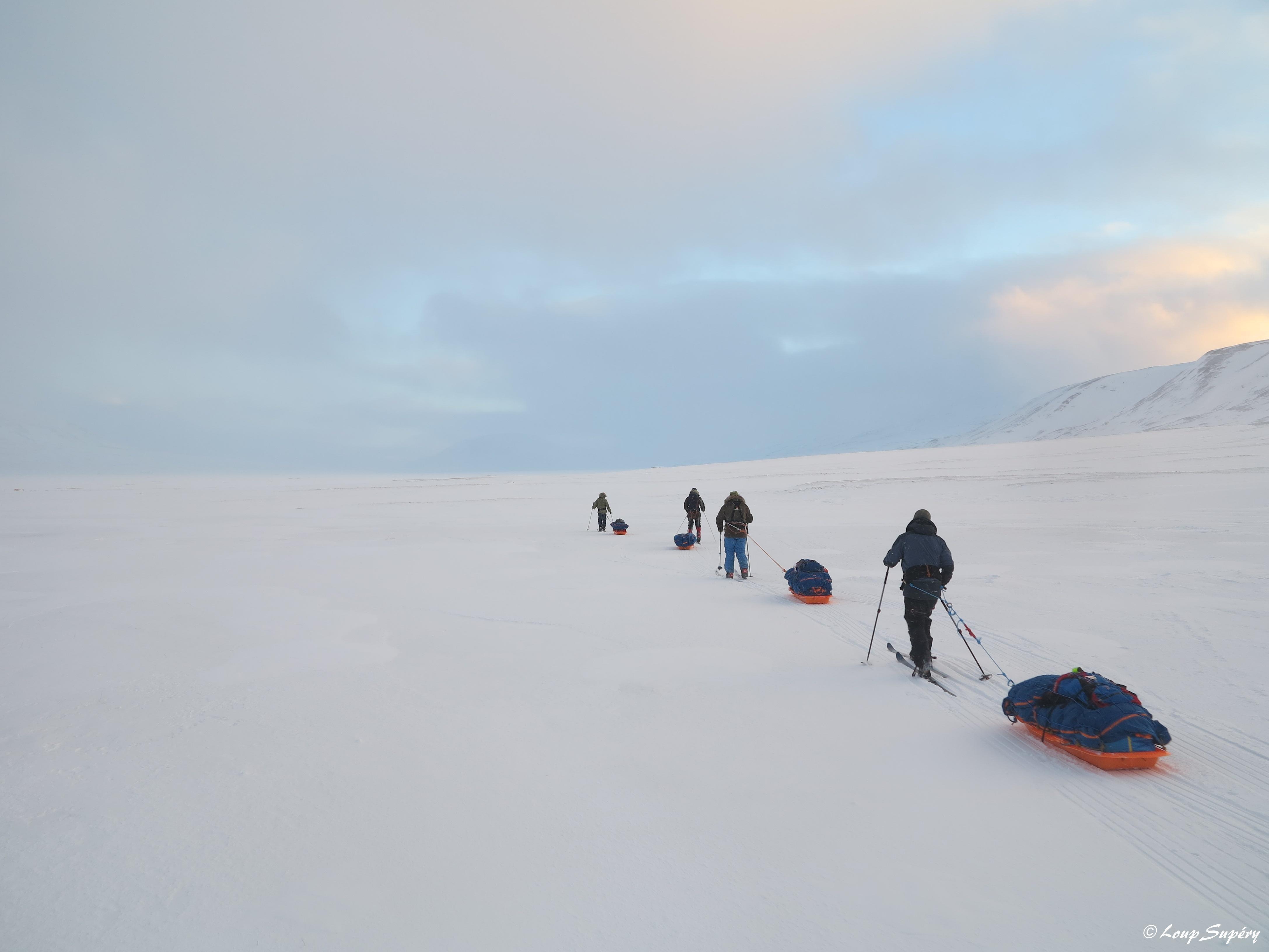 Première expédition à skis d'une semaine dans le cadre de la formation. (février 2019)