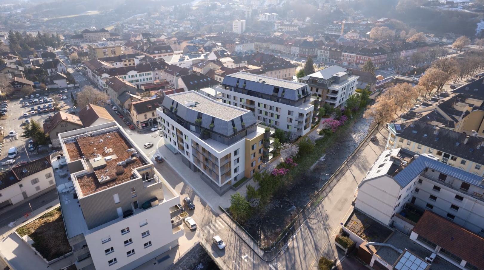 Les trois nouveaux bâtiments devraient être livrés par Teractem, à l'automne 2022.