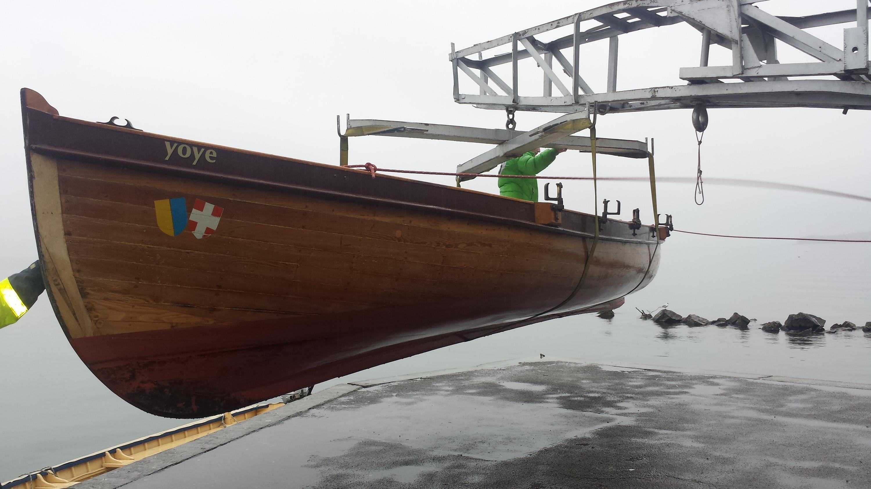 Pour son centenaire Le Yoye, canot de 10,5 m de long emblématique du sauvetage thononais, se refait une beauté.
