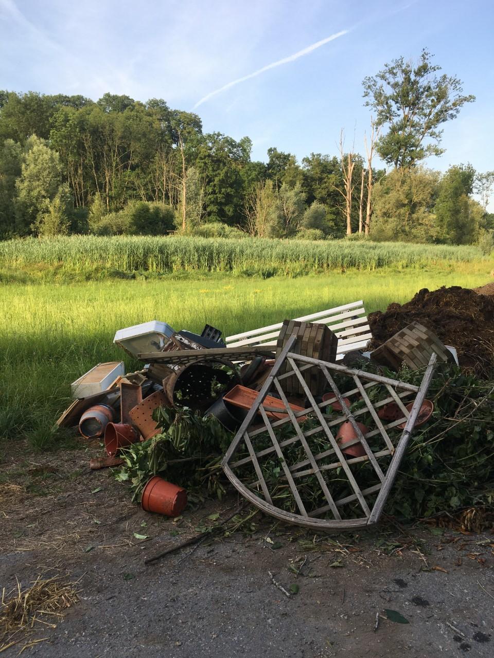 (PHOTOS) Bons-en-Chablais : des déchets sauvages s'accumulent à côté d'une zone protégée