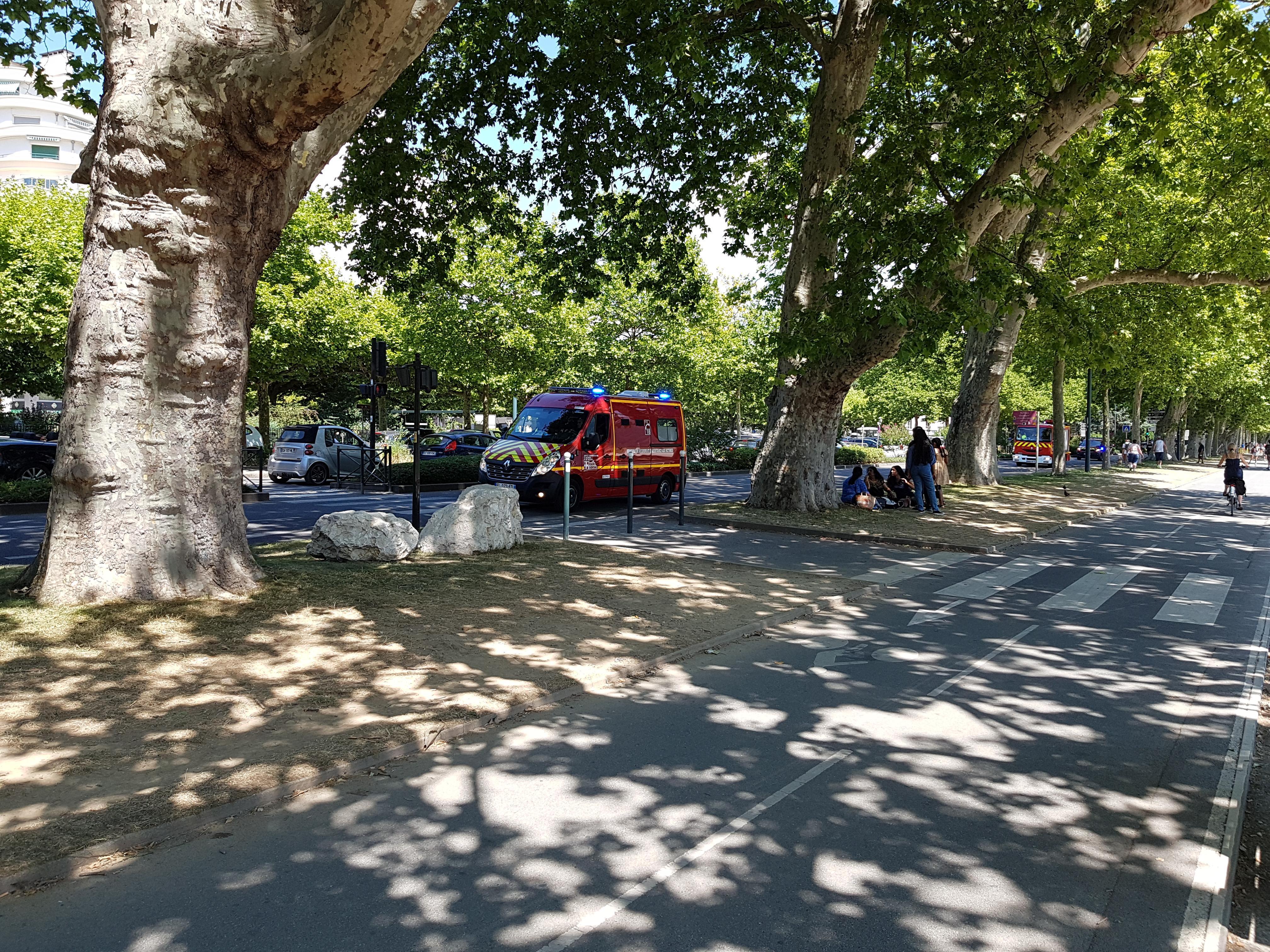 L'accident s'est produit jeudi 23 juillet 2020 sur l'avenue d'Albigny à Annecy.