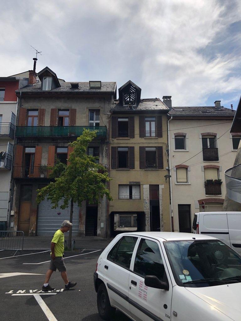 L'appartement sinistré, au lendemain de l'incendie.
