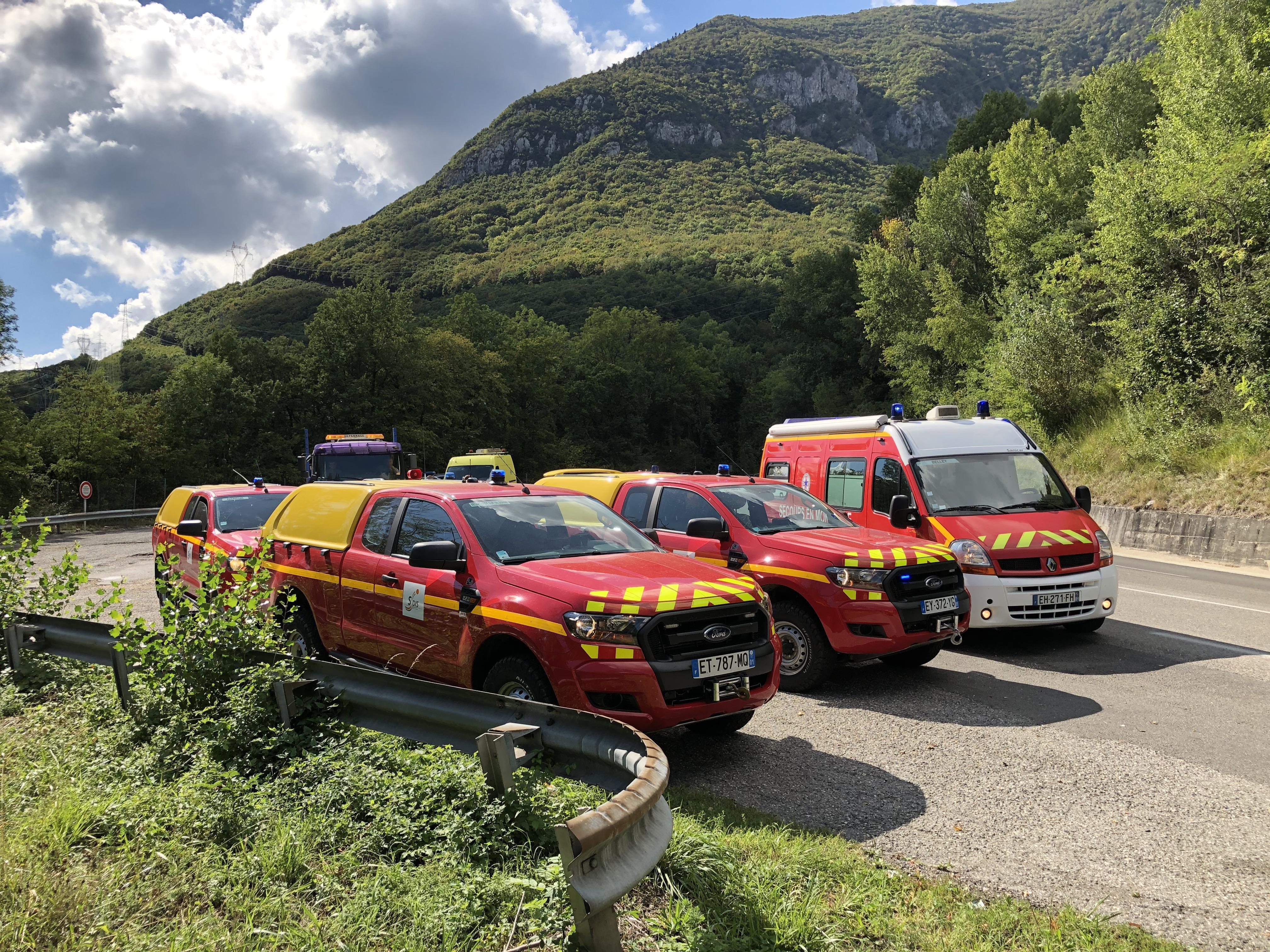 Une vingtaine de sapeurs-pompiers ont été mobilisés.