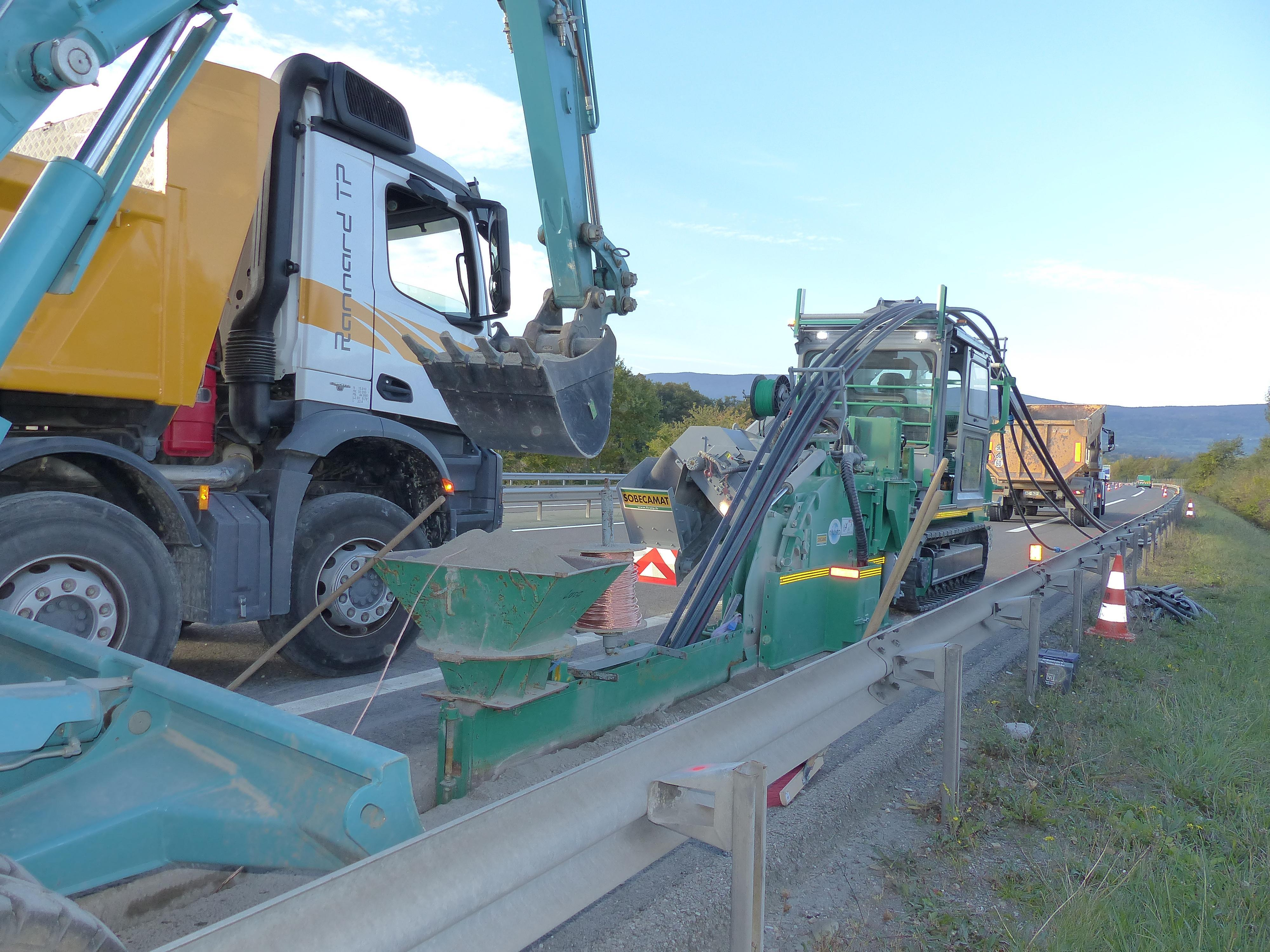 L'autoroute A40 impactée par des travaux à hauteur de Saint-Julien-en-Genevois