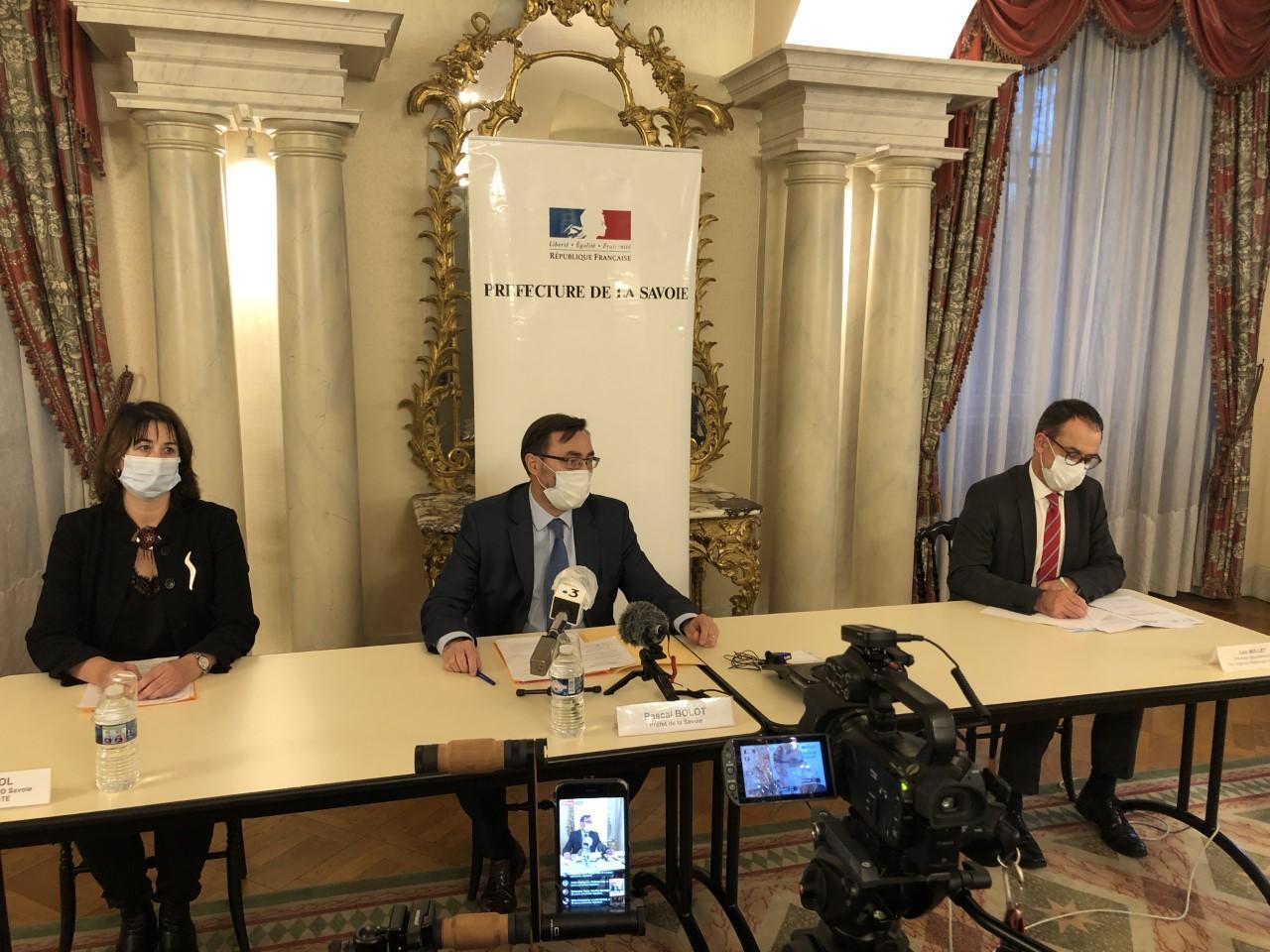 Pascal Bolot, préfet de la Savoie, a fait le point sur les mesures en vigueur ce vendredi 23 octobre.
