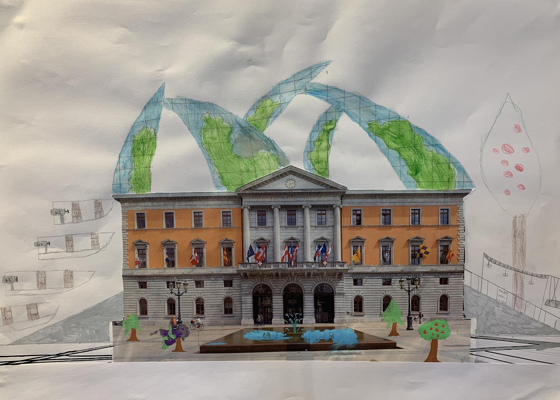 (PHOTOS) À l'école du quai Jules-Philippe, on a transformé l'incendie de la mairie d'Annecy en projet éducatif