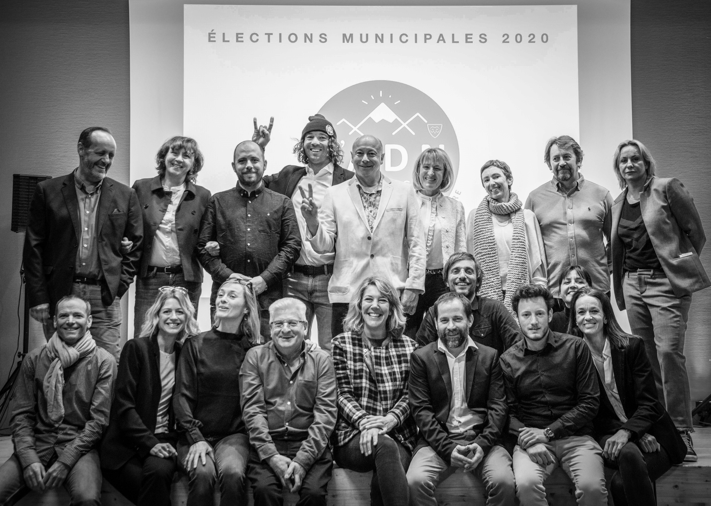 La liste ADN menée par Alexandre Hamelin lors des dernières élections municipales à La Clusaz.