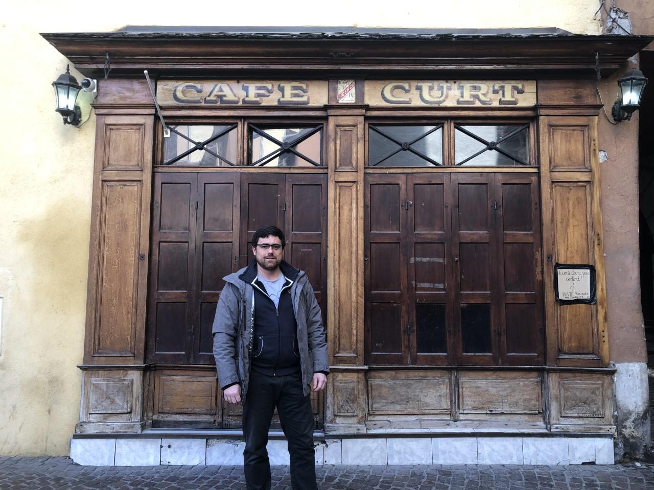 Arnaud Cornut est propriétaire du Café Curt depuis cinq ans.