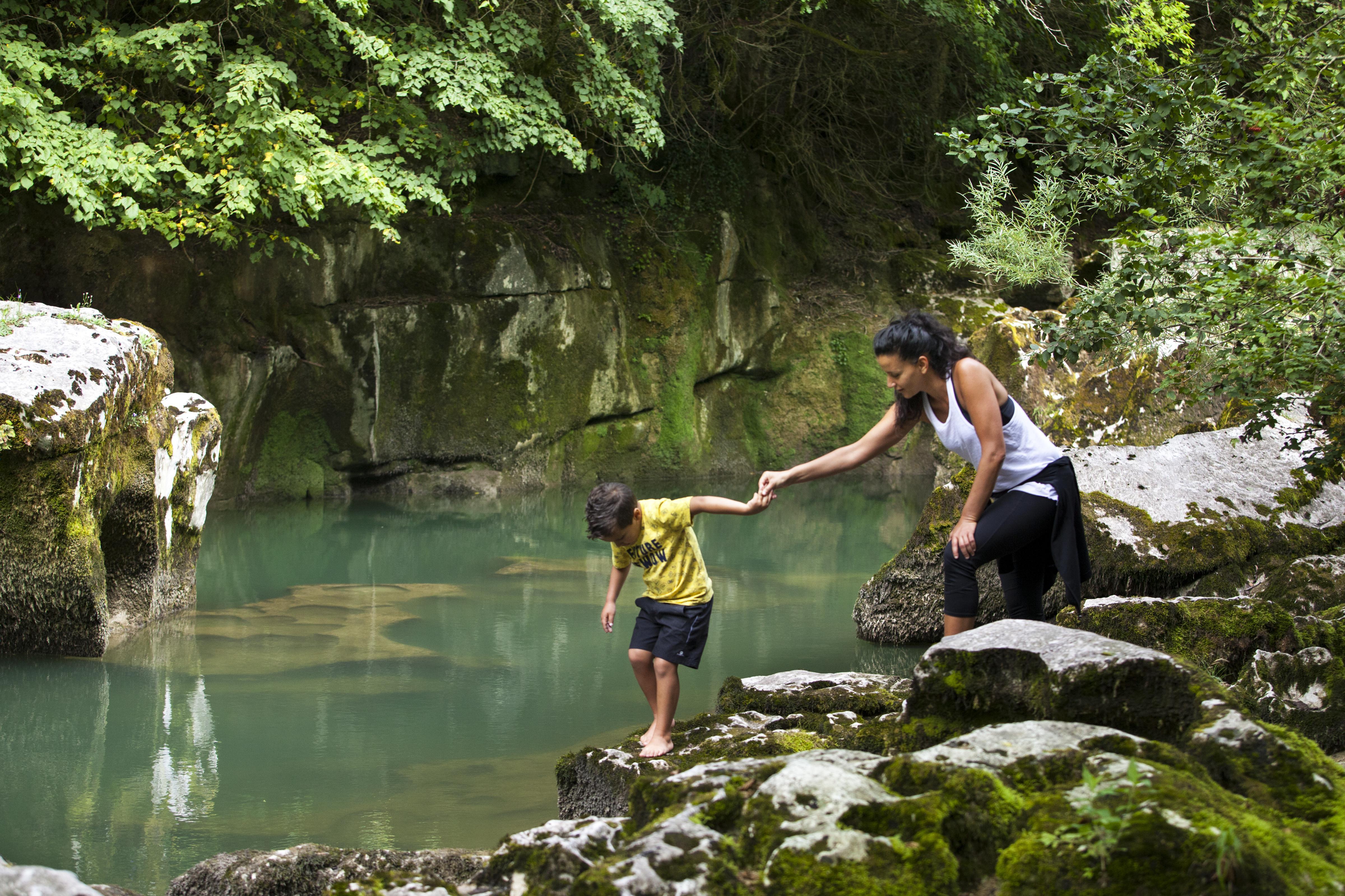 Excursion en famille aux pertes de la Valserine