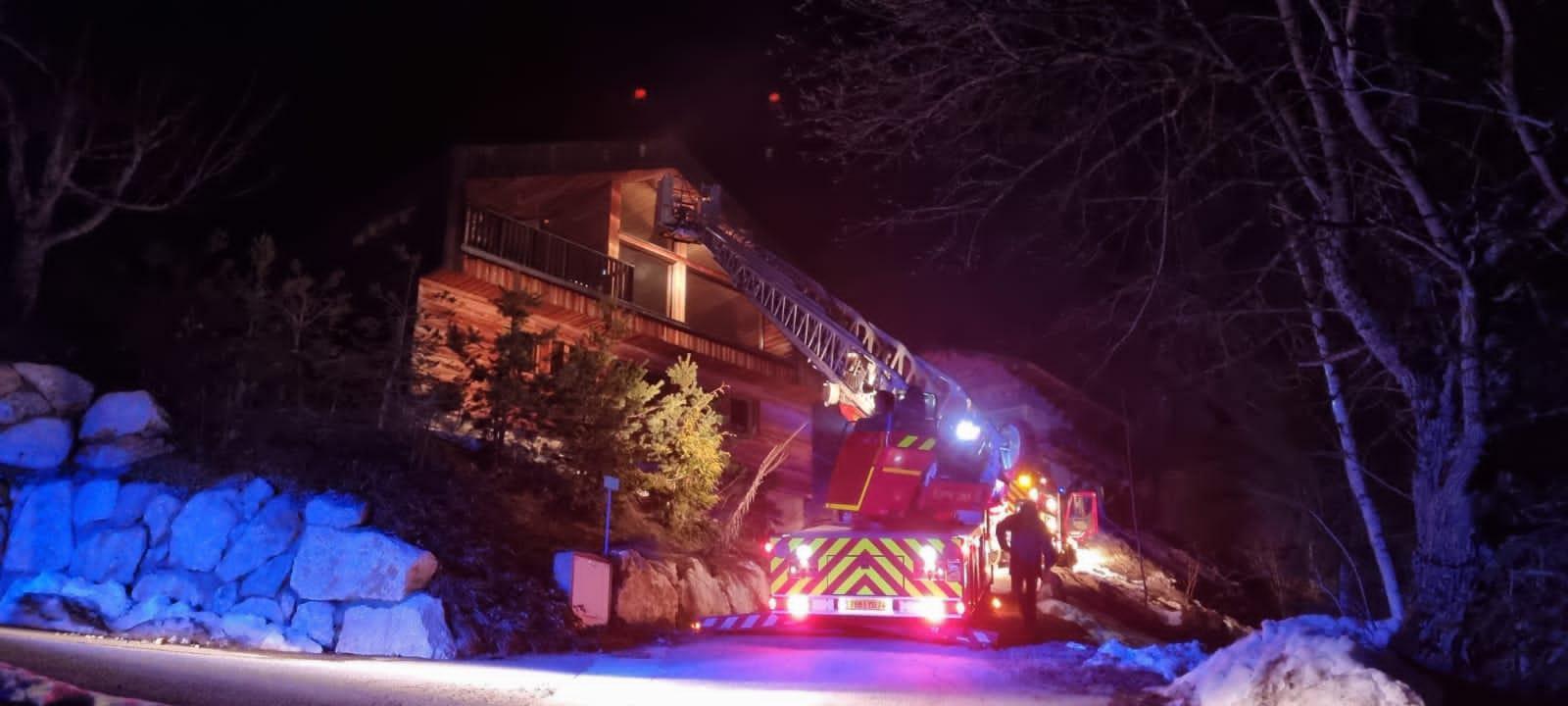 Manigod: un sauna prend feu dans un chalet